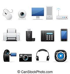 computer, elettronica, icone