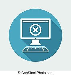 Computer error - Vector flat minimal icon
