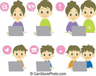 computer, famiglia