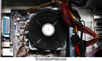 computer fan working