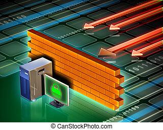computer, firewall