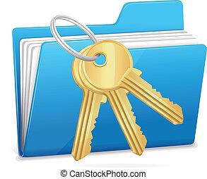 Computer folder and key