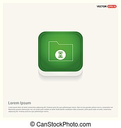 Computer Folder Icon Green Web Button
