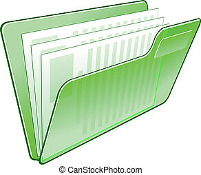 Computer folder icon isolated on wite for web design