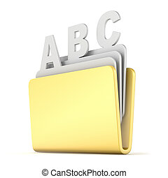 Computer folder with ABC files 3D