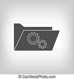 Computer folder with gear wheels