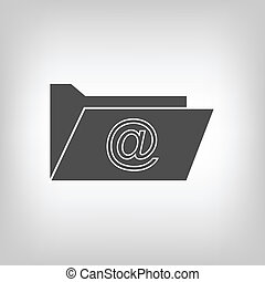 Computer folder with mail sign