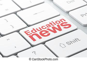 computer, fondo, tastiera, notizie, educazione, concept: