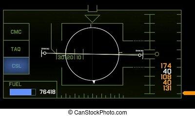 computer game interface, radar GPS