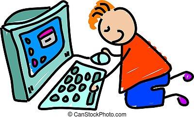 computer, geitje