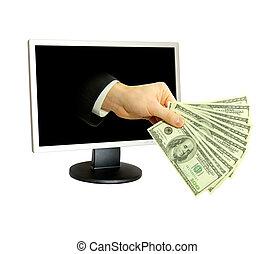 computer, geld