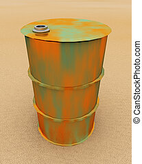 55 gallon drum - Computer generated 3D illustration with a ...