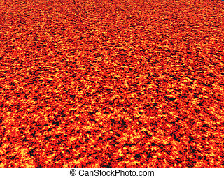 Lava Flow - Computer generated 3D illustration with a Lava...