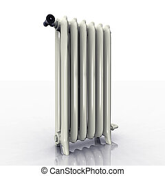 Radiator - Computer generated 3D illustration with a ...