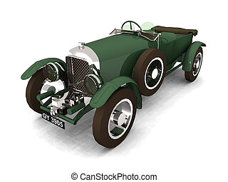 Antique Car - Computer generated 3D illustration with an...