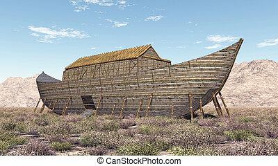 Noah's Ark - Computer generated 3D illustration with Noah's ...
