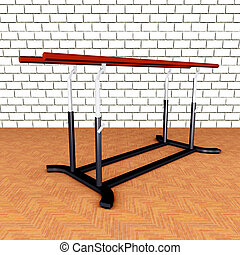 Parallel Bars - Computer generated 3D illustration with...