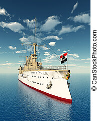 SMS Scharnhorst - Computer generated 3D illustration with ...