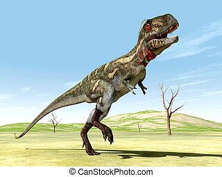 Dinosaur Nanotyrannus - Computer generated 3D illustration...
