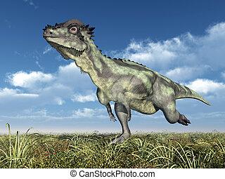 Dinosaur Pachycephalosaurus - Computer generated 3D...