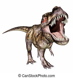 Tyrannosaurus Rex - Computer generated 3D illustration with...