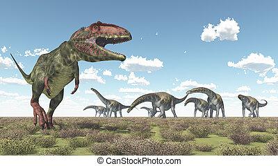 Giganotosaurus and Argentinosaurus