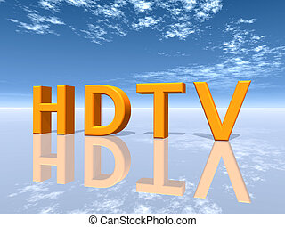 HDTV - Computer generated 3D illustration with the letters...