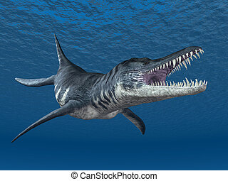 Liopleurodon - Computer generated 3D illustration with the...