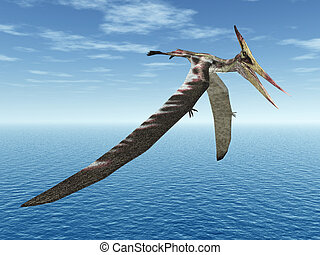 Pterosaur Pteranodon - Computer generated 3D illustration...