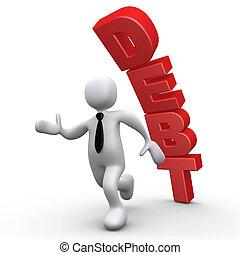 Debt - Computer Generated 3D Image - Debt .