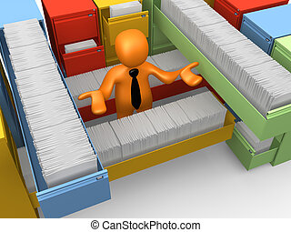 Paperwork - Computer Generated 3D Image - Paperwork .