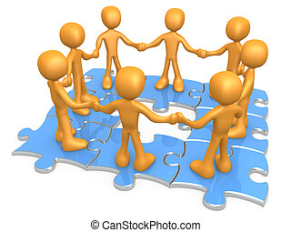 Teamwork - Computer generated 3d image - Teamwork .