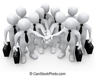 Teamwork - Computer Generated 3D Image - Teamwork