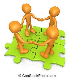 Teamwork - Computer Generated 3D Images - Teamwork .