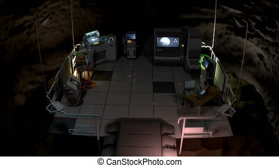 """Computer generated, Artist rendering, Secret underground command center V3."""