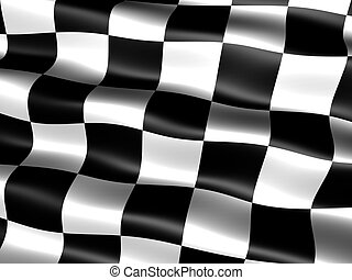 end-of-race flag - computer generated chequered end-of-race...