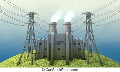 """Coal power station - """"Computer generated, Coal power station..."""