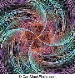 Computer generated digital art background - vector design