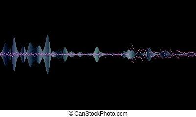 computer generated equalizer bars in waveform audio spectrum...