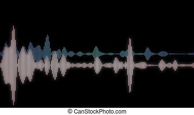 computer generated equalizer bars in waveform audio spectrum