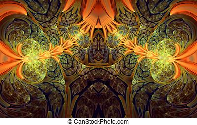 Computer generated fractal artwork for, design, art and...