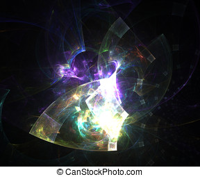 Computer generated fractal artwork for creative art,design...