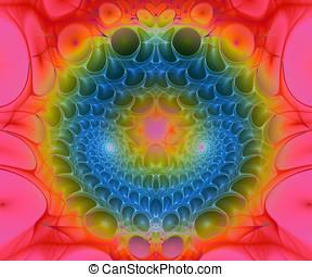 Computer generated fractal artwork for creative designers