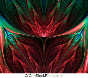 Computer generated fractal artwork for design and...
