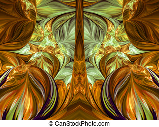 Computer generated fractal artwork for, design, art and...