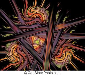 Computer generated fractal artwork for creative tasks