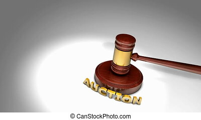 """Computer generated, Gavel auction and bid."""