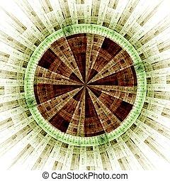 Computer generated illustration rendered fractal solar