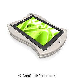 Palmtop - Computer generated image - 3d Palmtop .