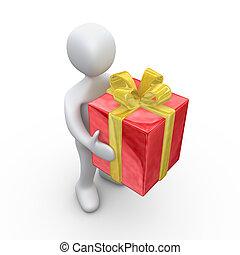 Big Present - Computer Generated Image - Big Present .